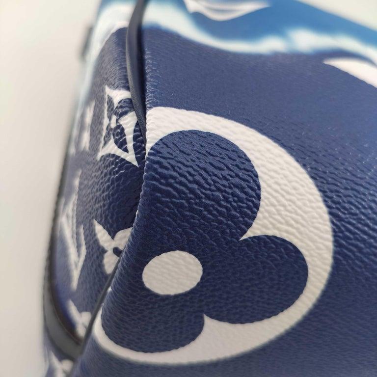 LOUIS VUITTON Speedy Escale Shoulder bag in Blue Canvas For Sale 6