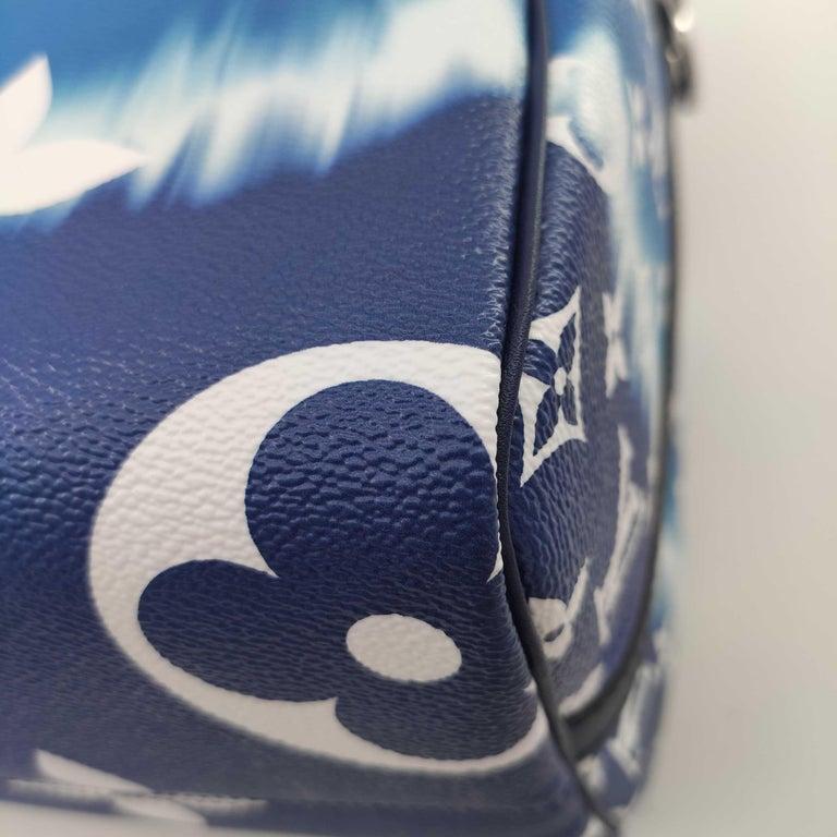 LOUIS VUITTON Speedy Escale Shoulder bag in Blue Canvas For Sale 7