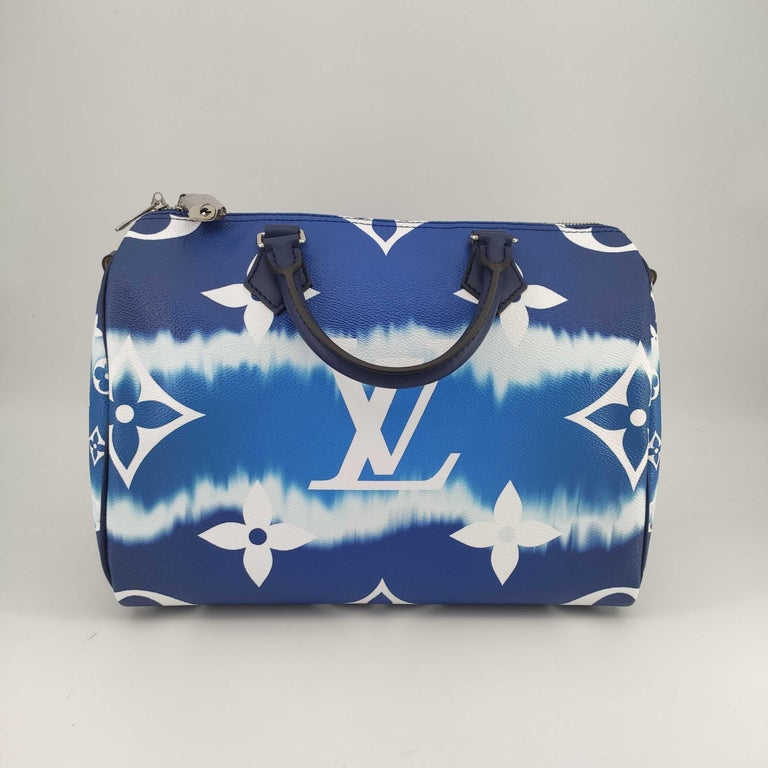 LOUIS VUITTON Speedy Escale Shoulder bag in Blue Canvas In New Condition For Sale In Clichy, FR
