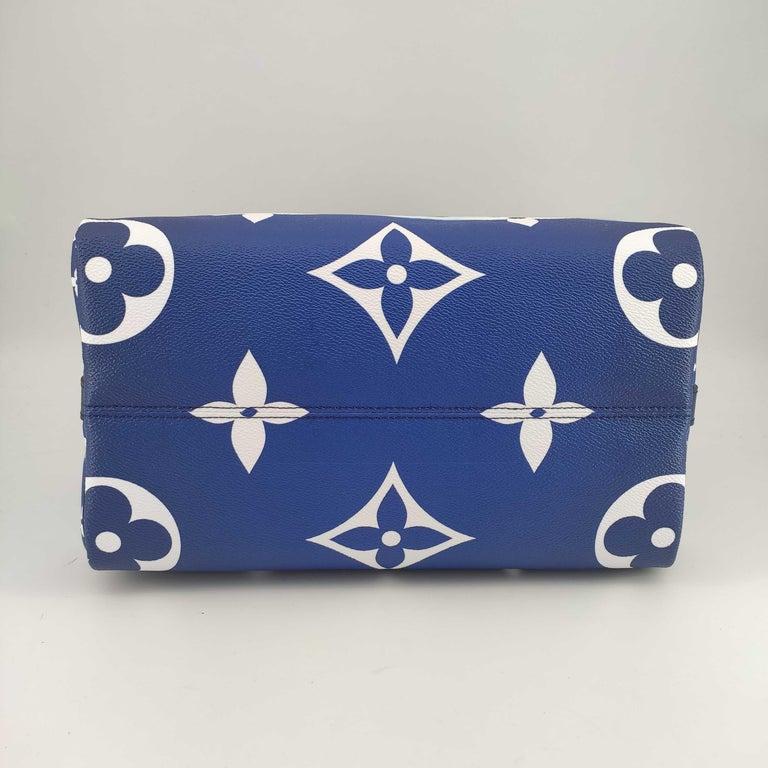 Women's LOUIS VUITTON Speedy Escale Shoulder bag in Blue Canvas For Sale