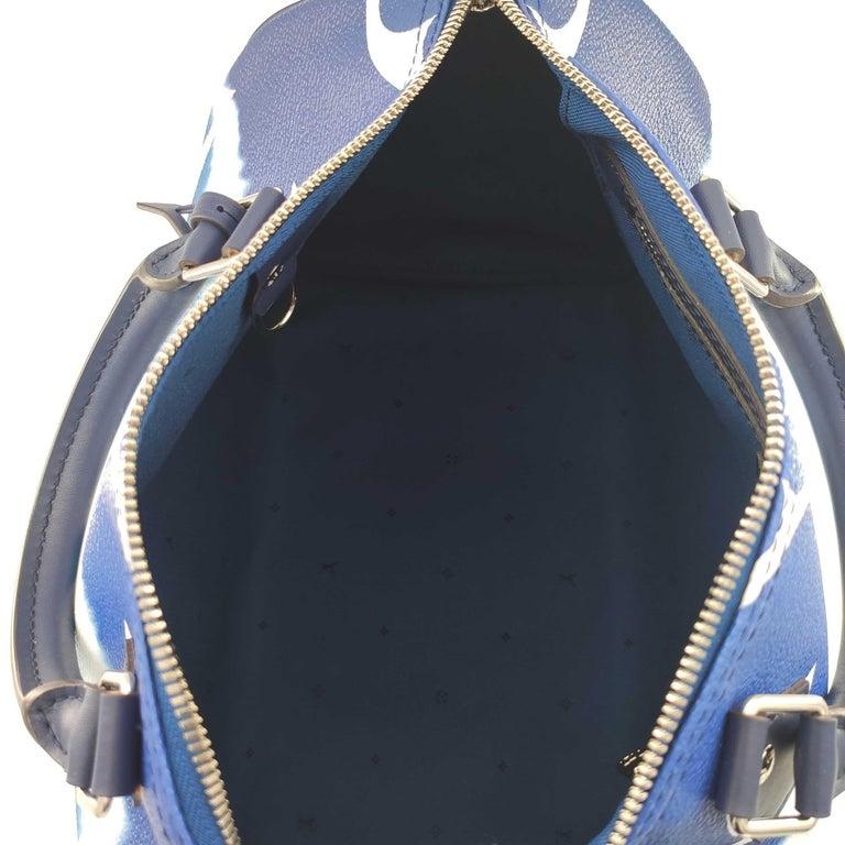 LOUIS VUITTON Speedy Escale Shoulder bag in Blue Canvas For Sale 1