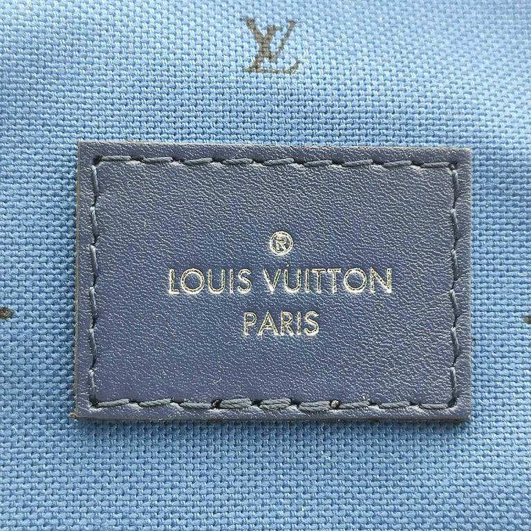 LOUIS VUITTON Speedy Escale Shoulder bag in Blue Canvas For Sale 2