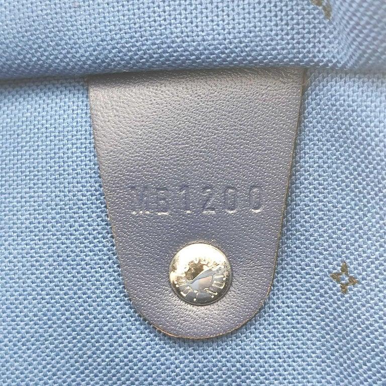 LOUIS VUITTON Speedy Escale Shoulder bag in Blue Canvas For Sale 3