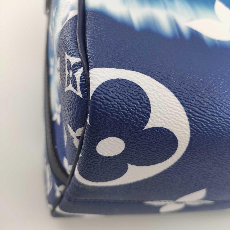 LOUIS VUITTON Speedy Escale Shoulder bag in Blue Canvas For Sale 4