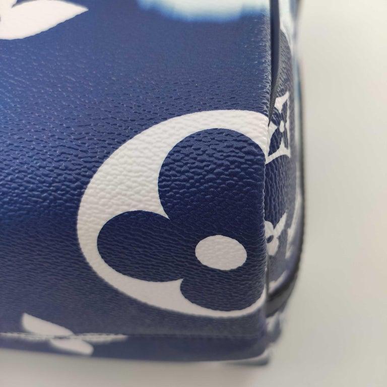 LOUIS VUITTON Speedy Escale Shoulder bag in Blue Canvas For Sale 5