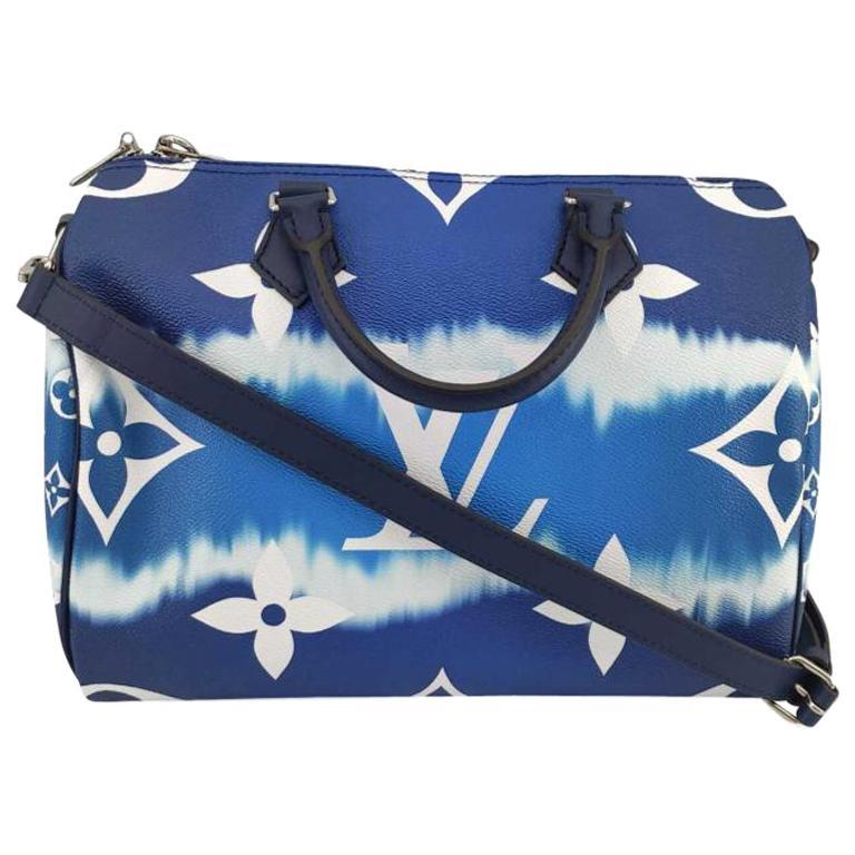 LOUIS VUITTON Speedy Escale Shoulder bag in Blue Canvas For Sale