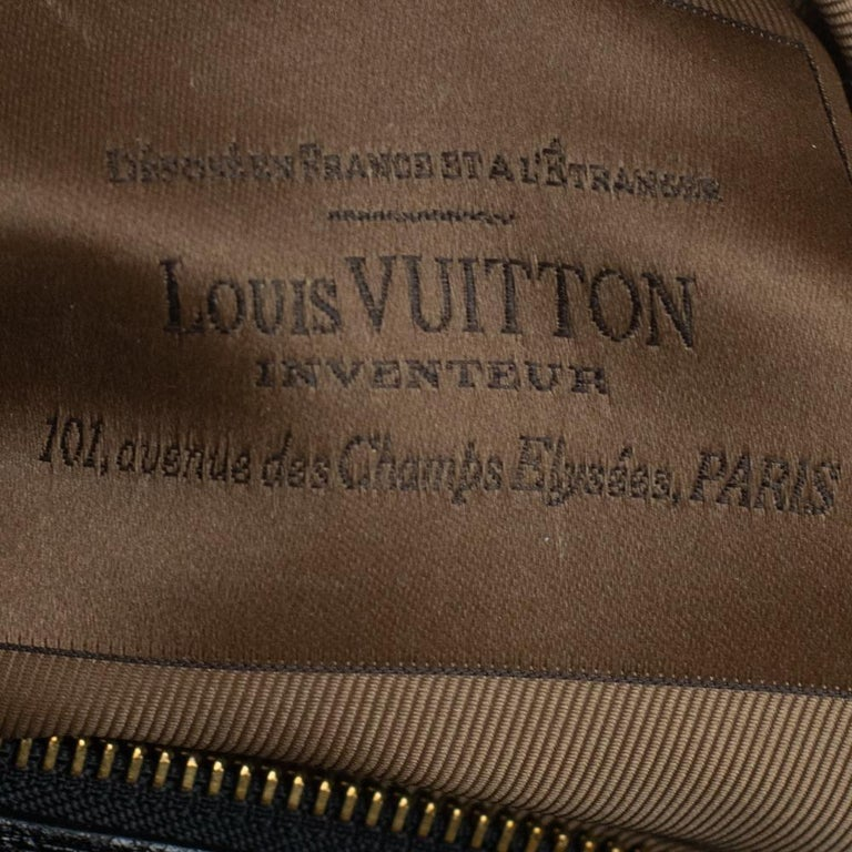 LOUIS VUITTON Speedy Fleur de jais Handbag in Black Canvas For Sale 2