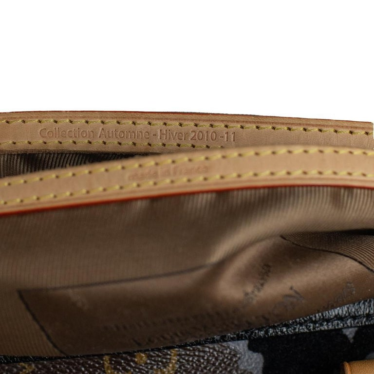 LOUIS VUITTON Speedy Fleur de jais Handbag in Black Canvas For Sale 3
