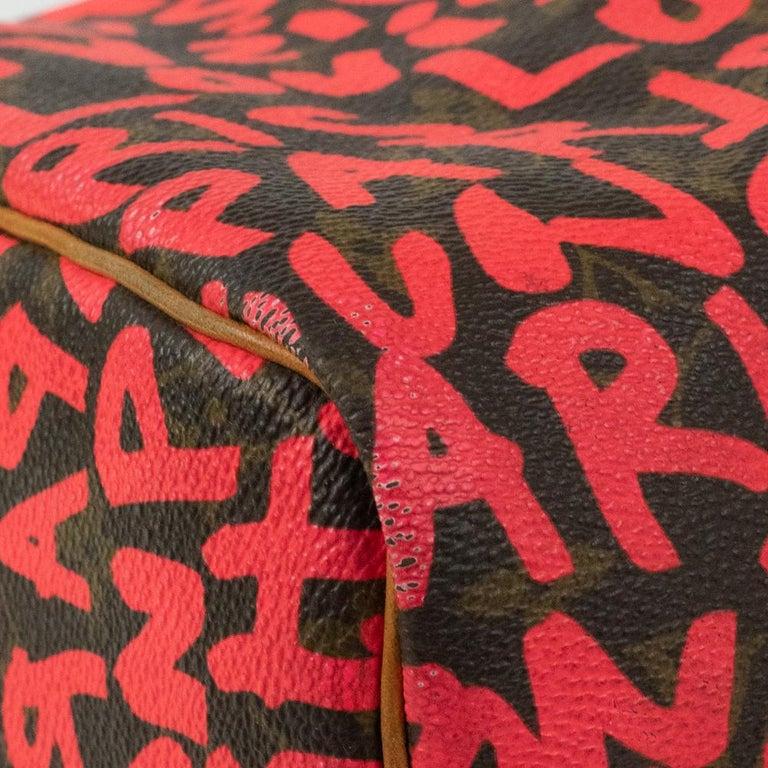 Louis Vuitton, Speedy Graffiti in red canvas For Sale 5