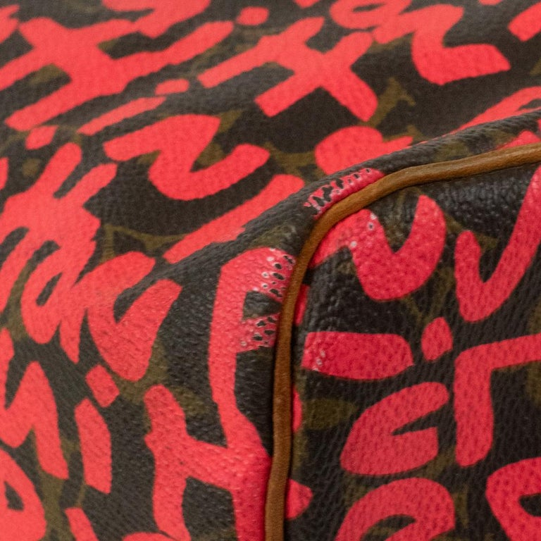 Louis Vuitton, Speedy Graffiti in red canvas For Sale 6