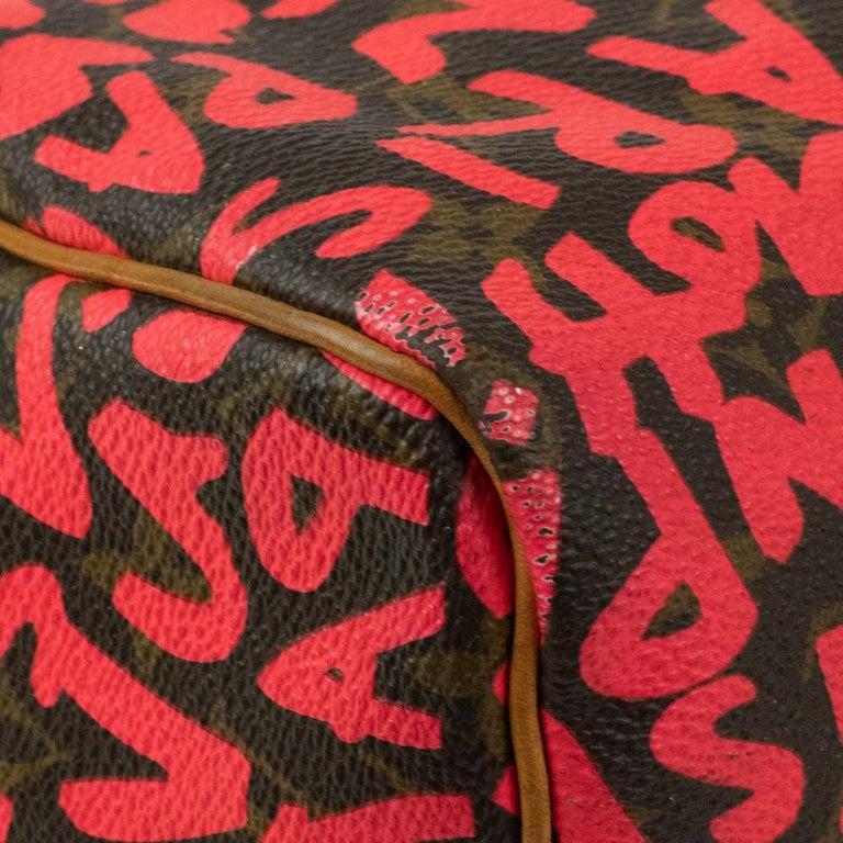Louis Vuitton, Speedy Graffiti in red canvas For Sale 7