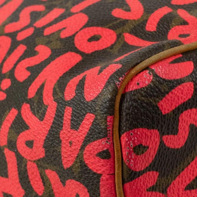 Louis Vuitton, Speedy Graffiti in red canvas For Sale 8