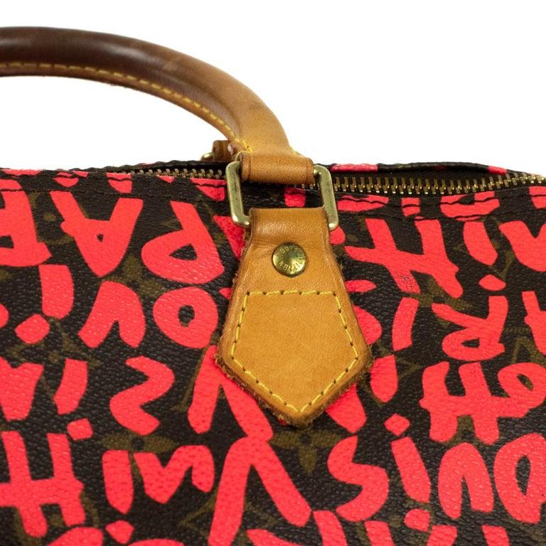 Louis Vuitton, Speedy Graffiti in red canvas For Sale 9