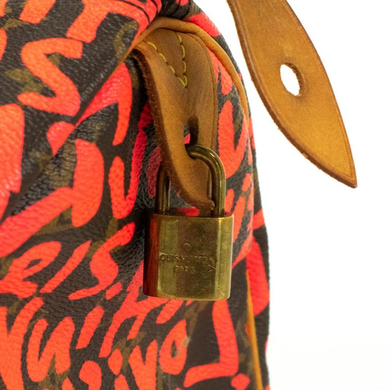 Louis Vuitton, Speedy Graffiti in red canvas For Sale 4