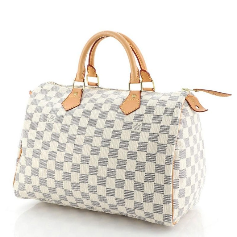 Louis Vuitton Speedy Handbag Damier 30 In Good Condition For Sale In New York, NY