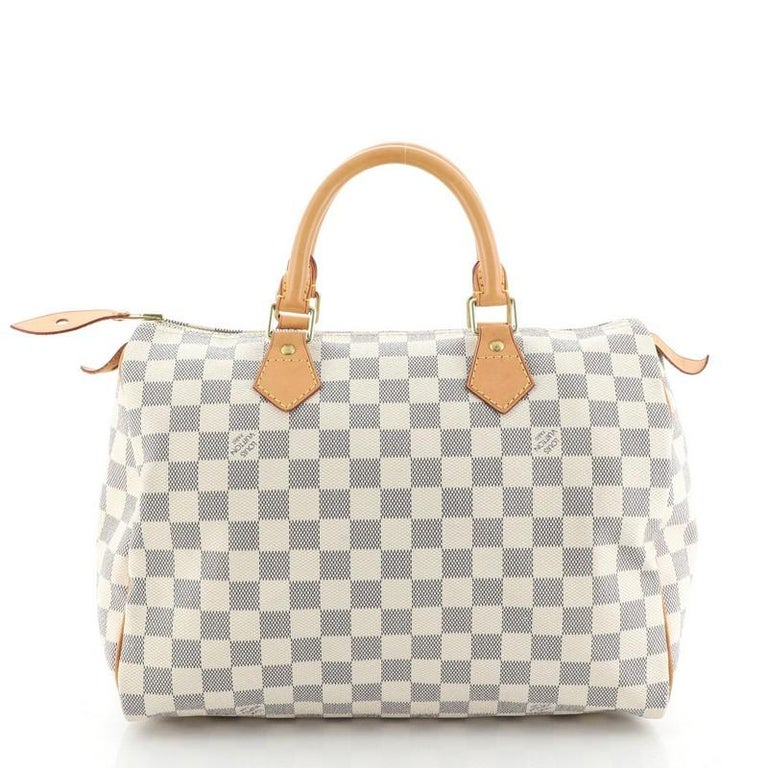 Women's or Men's Louis Vuitton Speedy Handbag Damier 30 For Sale