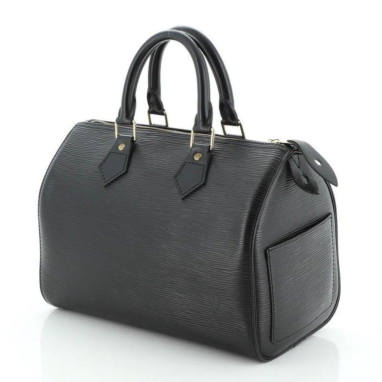 Black Louis Vuitton Speedy Handbag Epi Leather 25