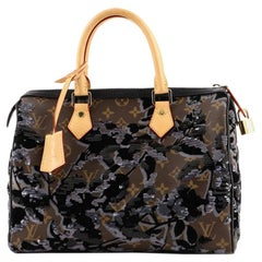 Louis Vuitton Speedy Handbag Fleur De Jais Monogram Canvas 30