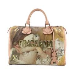 Louis Vuitton Speedy Handbag Limited Edition Jeff Koons Fragonard Print C