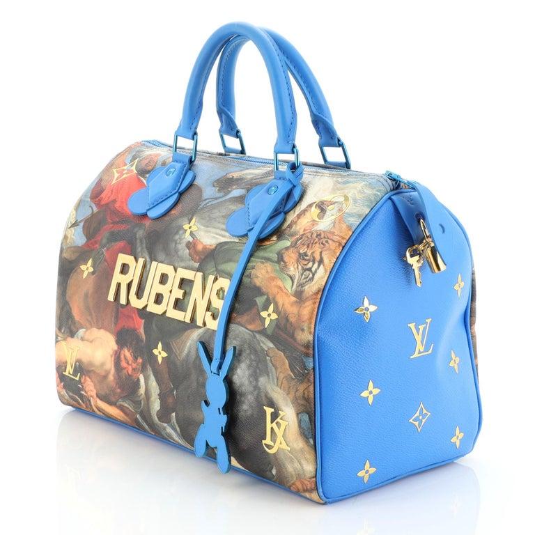 Louis Vuitton Speedy Handbag Limited Edition Jeff Koons Rubens Print Canvas 30 1