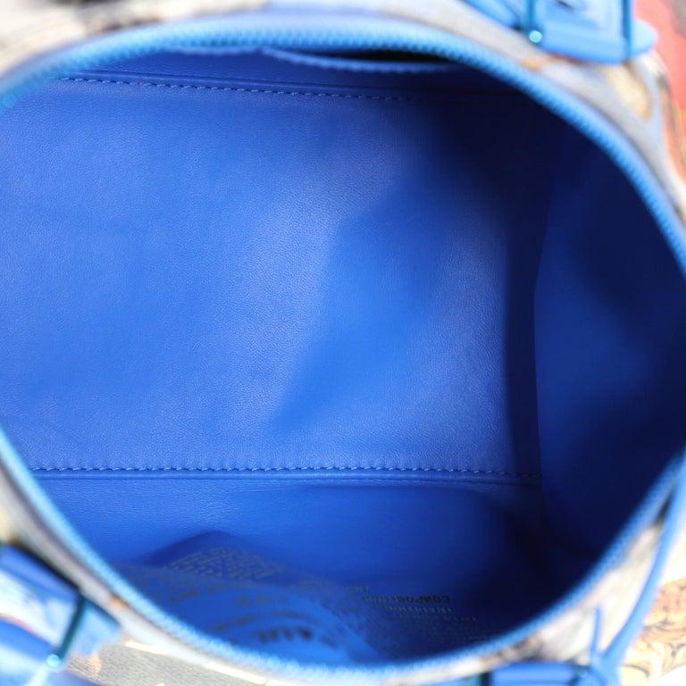 Louis Vuitton Speedy Handbag Limited Edition Jeff Koons Rubens Print Canvas 30 3