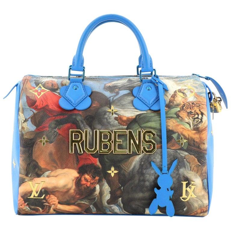 Louis Vuitton Speedy Handbag Limited Edition Jeff Koons Rubens Print Canvas 30