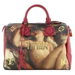 Louis Vuitton Speedy Handbag Limited Edition Jeff Koons Titian Print Canvas 30