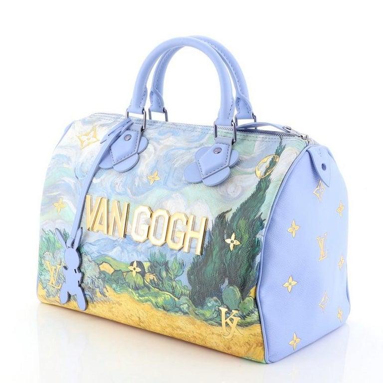Louis Vuitton Speedy Handbag Limited Edition Jeff Koons Van Gogh Print Ca In Excellent Condition In New York, NY