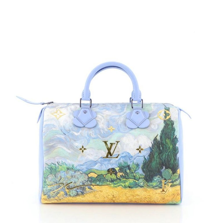Women's or Men's Louis Vuitton Speedy Handbag Limited Edition Jeff Koons Van Gogh Print Ca