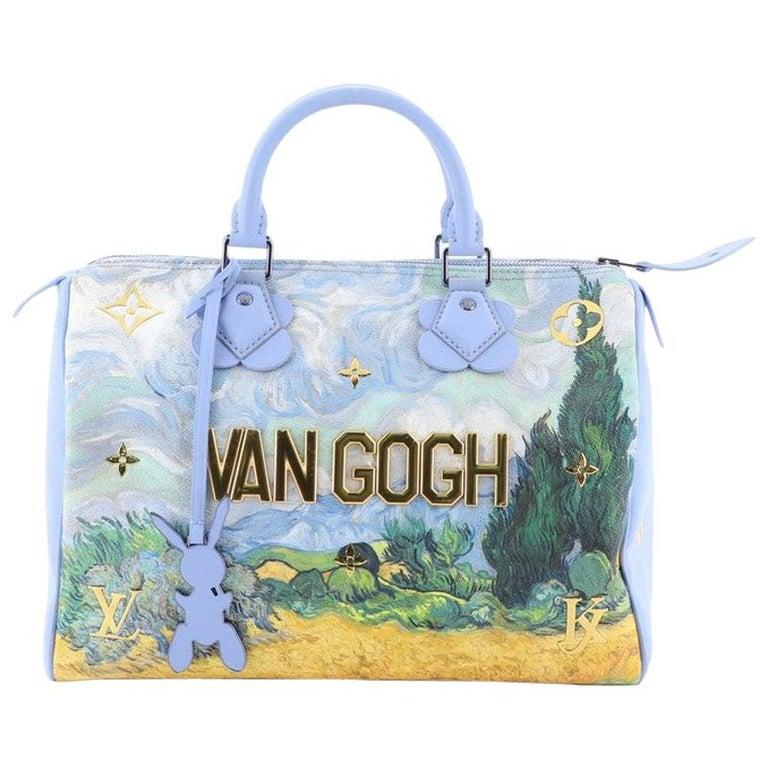 Louis Vuitton Speedy Handbag Limited Edition Jeff Koons Van Gogh Print Ca