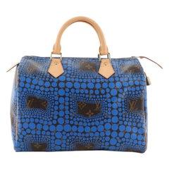 Louis Vuitton Speedy Handbag Limited Edition Kusama Town Monogram Canvas 30