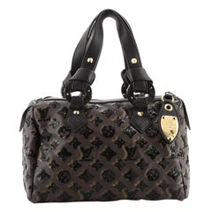 Louis Vuitton Speedy Handbag Limited Edition Monogram Eclipse Sequins 28