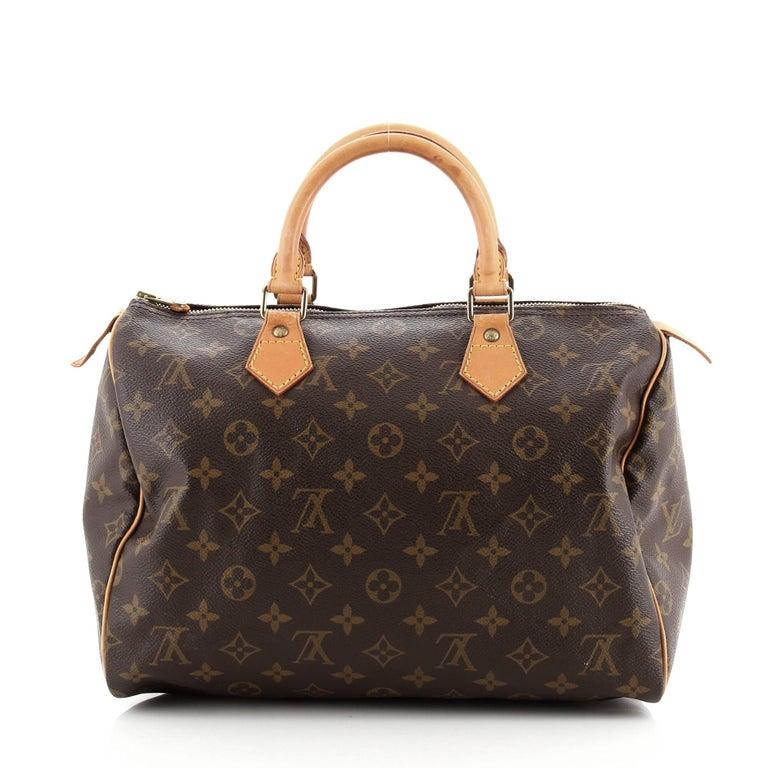 Black Louis Vuitton  Speedy Handbag Monogram Canvas 30 For Sale