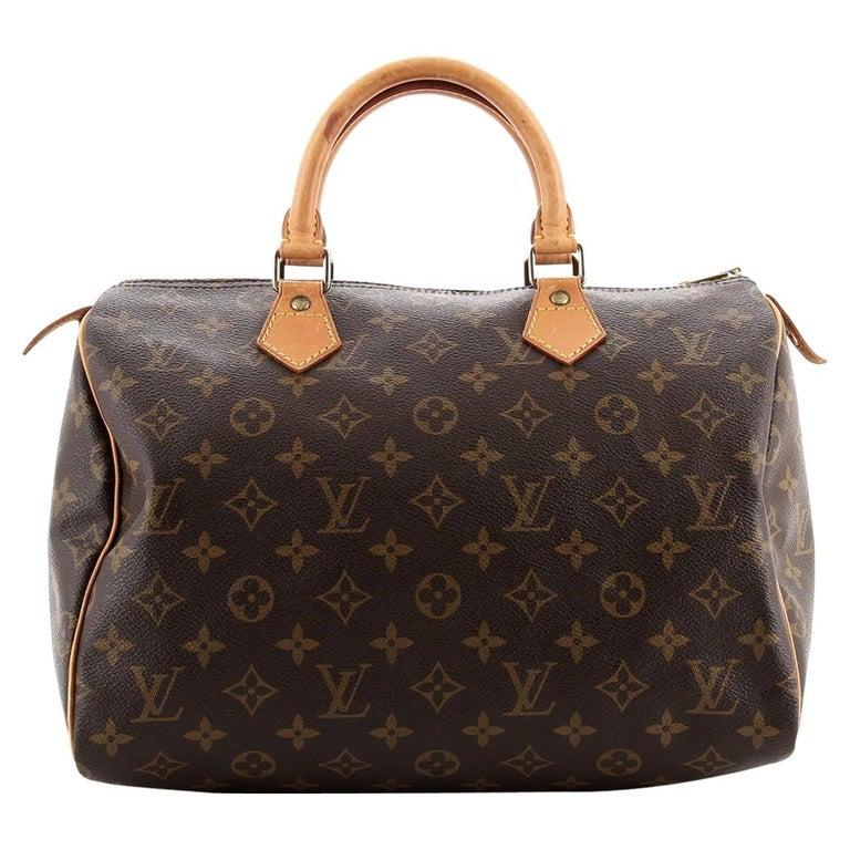 Louis Vuitton  Speedy Handbag Monogram Canvas 30 For Sale