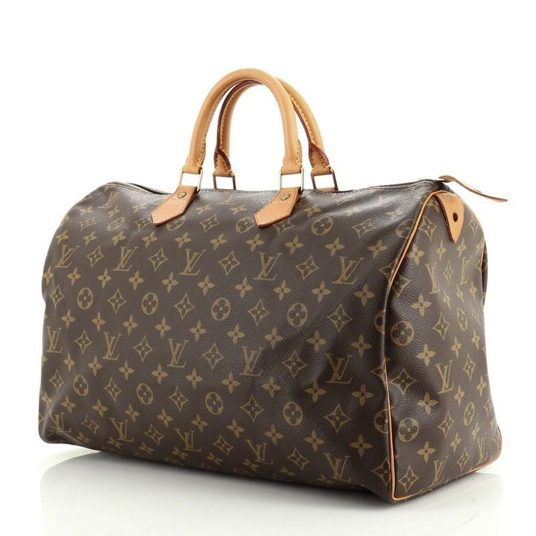 Louis Vuitton Speedy Handbag Monogram Canvas 40 In Good Condition For Sale In New York, NY
