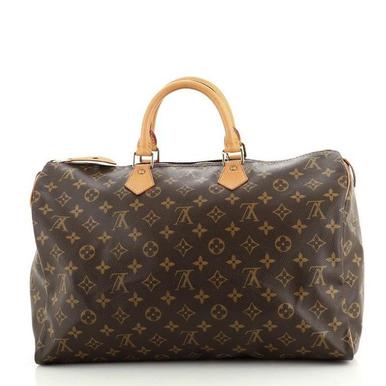 Women's or Men's Louis Vuitton Speedy Handbag Monogram Canvas 40 For Sale