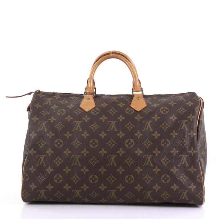 2d7f7c50fe5b5 Louis Vuitton Speedy Handtasche Monogramm Segeltuch 40 bei 1stdibs