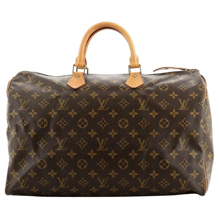 Louis Vuitton Speedy Handbag Monogram Canvas 40 For Sale