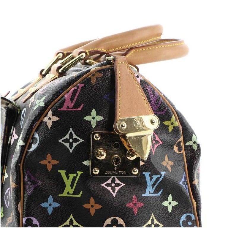 Louis Vuitton Speedy Handbag Monogram Multicolor 30 For Sale 5