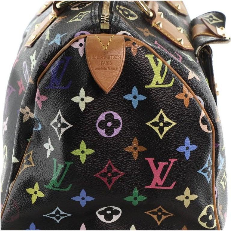 Louis Vuitton Speedy Handbag Monogram Multicolor 30 For Sale 6