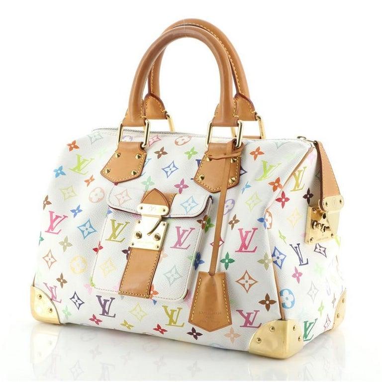 Louis Vuitton Speedy Handbag Monogram Multicolor 30 In Good Condition For Sale In New York, NY