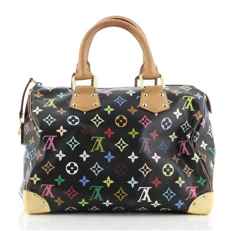 Women's or Men's Louis Vuitton Speedy Handbag Monogram Multicolor 30 For Sale