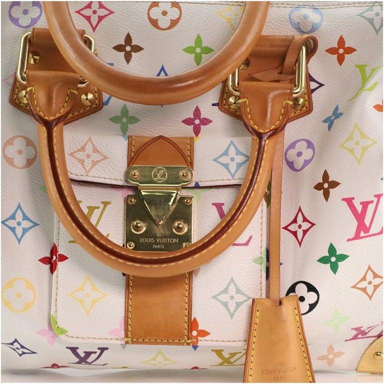 Louis Vuitton Speedy Handbag Monogram Multicolor 30 For Sale 3