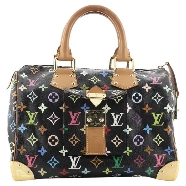 Louis Vuitton Speedy Handbag Monogram Multicolor 30 For Sale