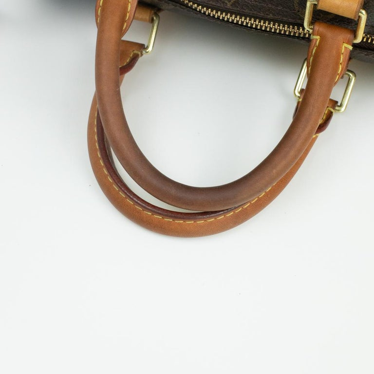 Louis Vuitton, Speedy in brown canvas 7