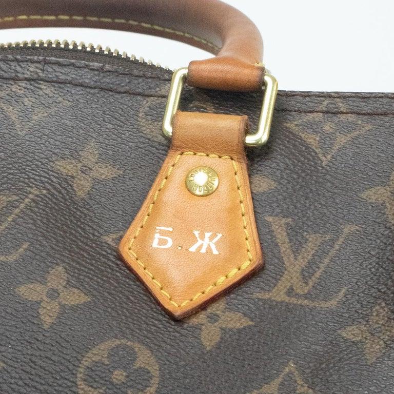 Louis Vuitton, Speedy in brown canvas 9