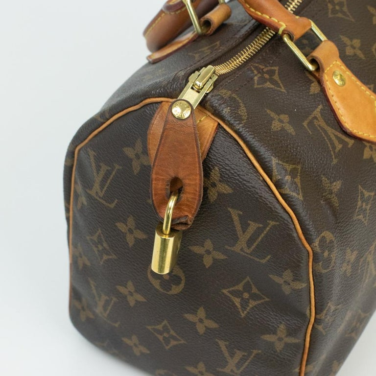 Louis Vuitton, Speedy in brown canvas 11