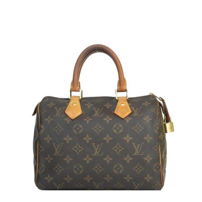 Gray Louis Vuitton, Speedy in brown canvas