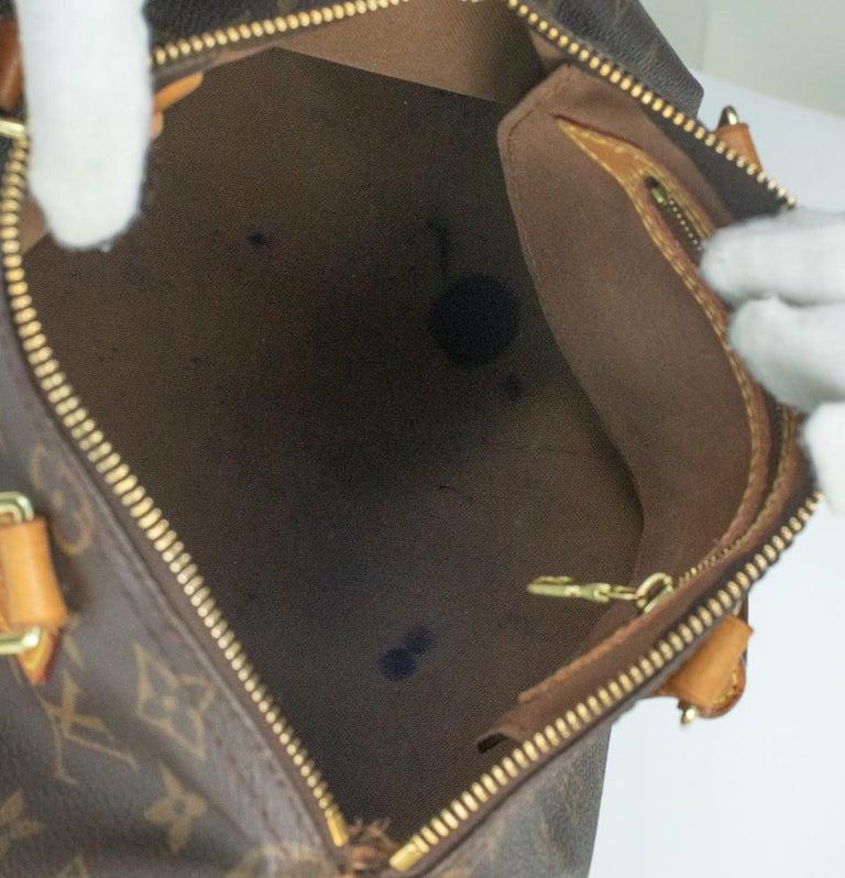 Women's Louis Vuitton, Speedy in brown canvas