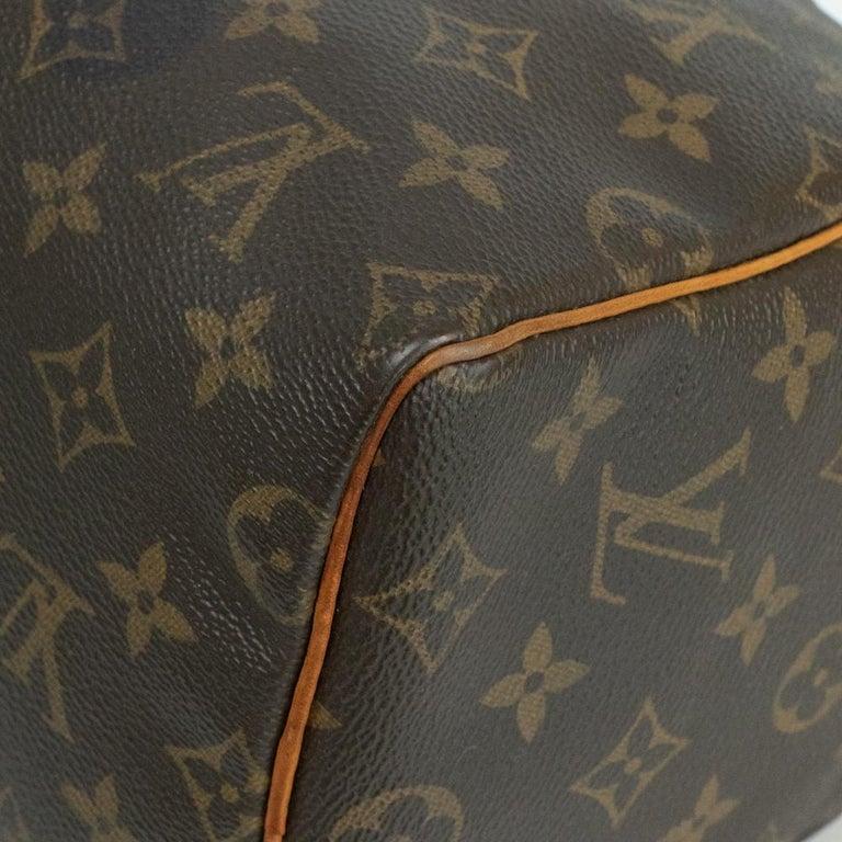 Louis Vuitton, Speedy in brown canvas 4